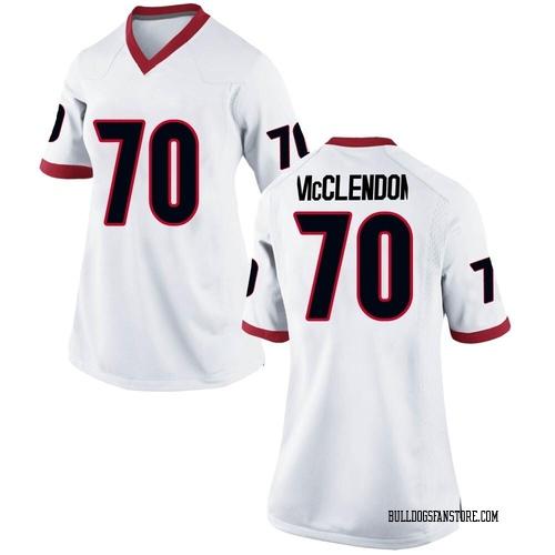 Women's Nike Warren McClendon Georgia Bulldogs Game White Football College Jersey