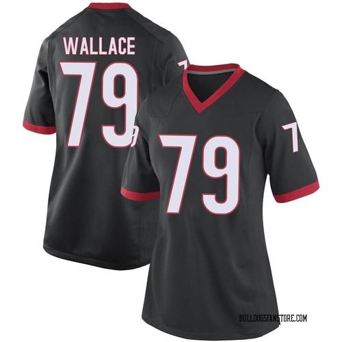 Women's Nike Weston Wallace Georgia Bulldogs Game Black Football College Jersey