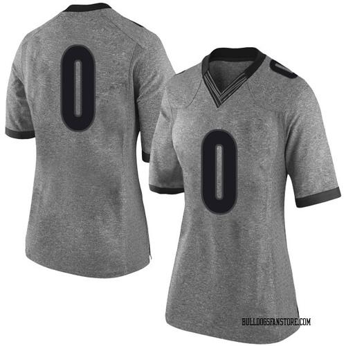 Women's Nike William Jackson II Georgia Bulldogs Limited Gray Football College Jersey