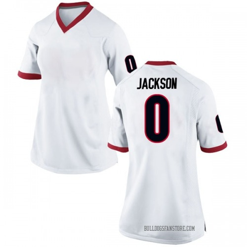 Women's Nike William Jackson II Georgia Bulldogs Replica White Football College Jersey