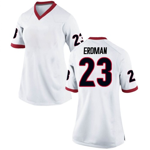 Women's Nike Willie Erdman Georgia Bulldogs Replica White Football College Jersey