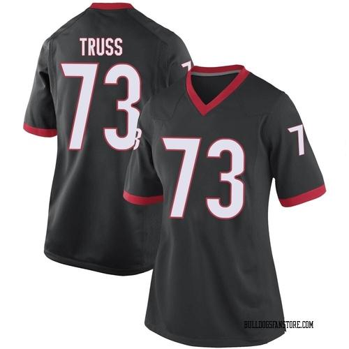 Women's Nike Xavier Truss Georgia Bulldogs Game Black Football College Jersey