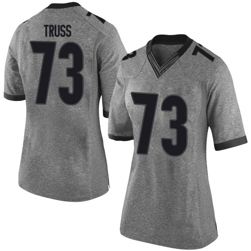 Women's Nike Xavier Truss Georgia Bulldogs Limited Gray Football College Jersey