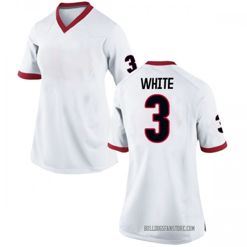 Women's Nike Zamir White Georgia Bulldogs Replica White Football College Jersey