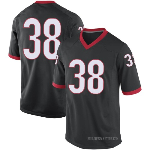 Youth Nike Aaron Olalude Georgia Bulldogs Replica Black Football College Jersey
