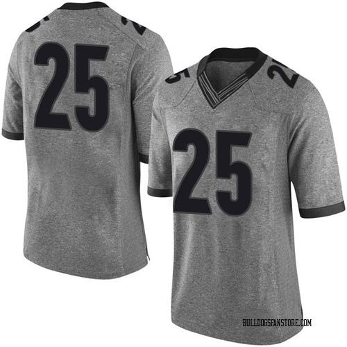 Youth Nike Ahkil Crumpton Georgia Bulldogs Limited Gray Football College Jersey