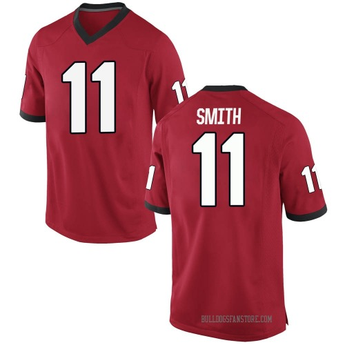 Youth Nike Arian Smith Georgia Bulldogs Game Red Football College Jersey