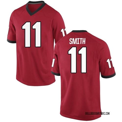 Youth Nike Arian Smith Georgia Bulldogs Replica Red Football College Jersey