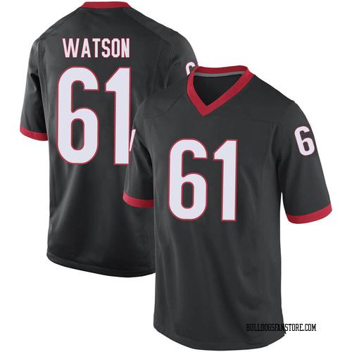 Youth Nike Blake Watson Georgia Bulldogs Replica Black Football College Jersey