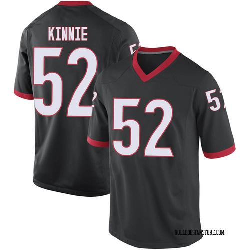 Youth Nike Cameron Kinnie Georgia Bulldogs Replica Black Football College Jersey