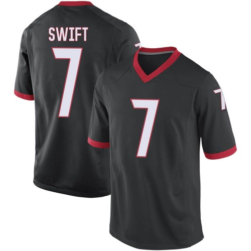 Youth Nike D'Andre Swift Georgia Bulldogs Game Black Football College Jersey