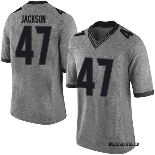Youth Nike Dan Jackson Georgia Bulldogs Limited Gray Football College Jersey