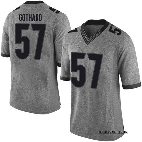 Youth Nike Daniel Gothard Georgia Bulldogs Limited Gray Football College Jersey