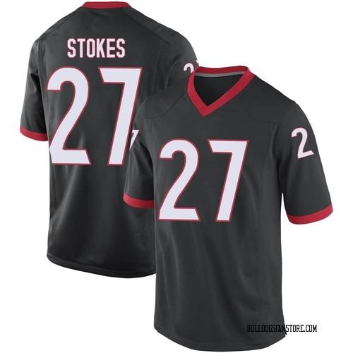 Youth Nike Eric Stokes Georgia Bulldogs Game Black Football College Jersey