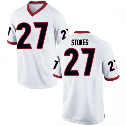 Youth Nike Eric Stokes Georgia Bulldogs Replica White Football College Jersey