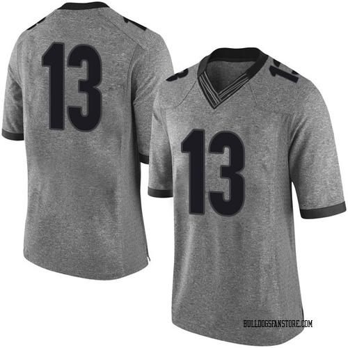 Youth Nike Etorrion Wilridge Georgia Bulldogs Limited Gray Football College Jersey
