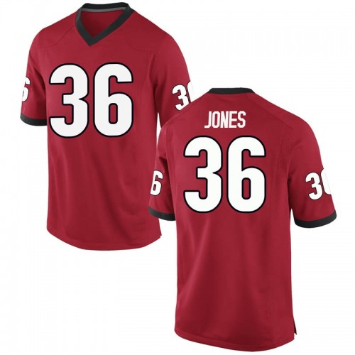 Youth Nike Garrett Jones Georgia Bulldogs Game Red Football College Jersey