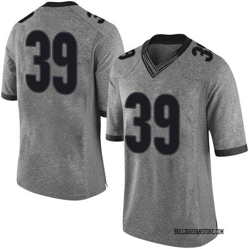 Youth Nike Hugh Nelson Georgia Bulldogs Limited Gray Football College Jersey