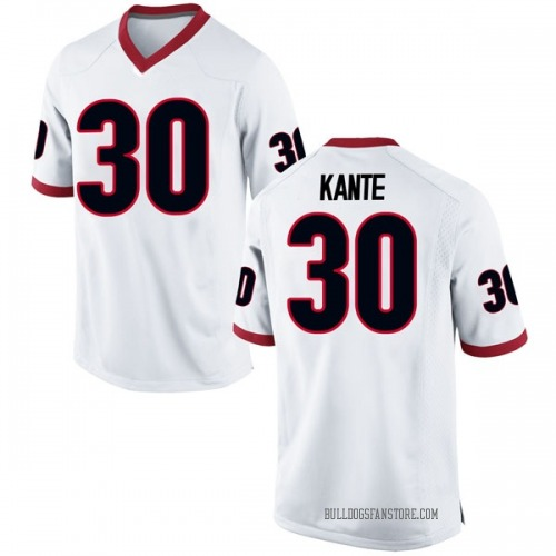 Youth Nike Isaac Kante Georgia Bulldogs Game White Football College Jersey