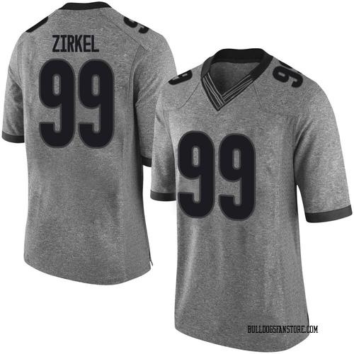 Youth Nike Jared Zirkel Georgia Bulldogs Limited Gray Football College Jersey