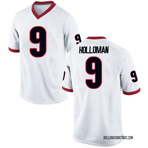 Youth Nike Jeremiah Holloman Georgia Bulldogs Replica White Football College Jersey