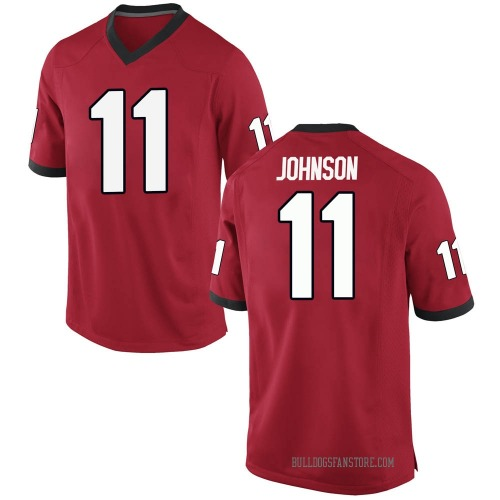 Youth Nike Jermaine Johnson Georgia Bulldogs Replica Red Football College Jersey