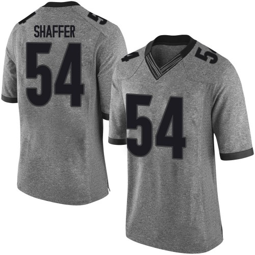 Youth Justin Shaffer Georgia Bulldogs Limited Gray Football College Jersey