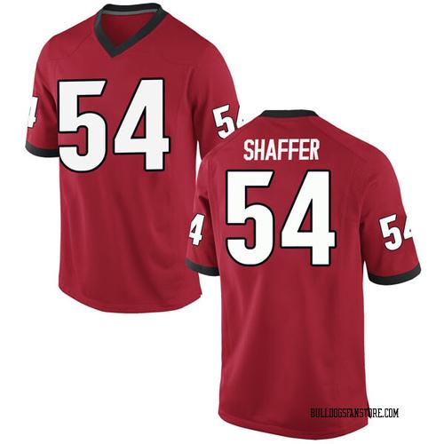 Youth Nike Justin Shaffer Georgia Bulldogs Replica Red Football College Jersey