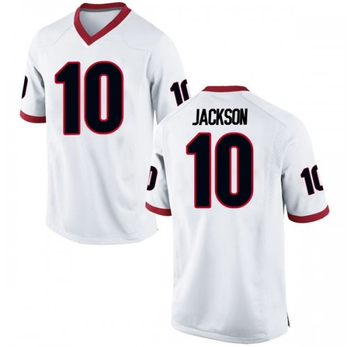 Youth Nike Kearis Jackson Georgia Bulldogs Game White Football College Jersey