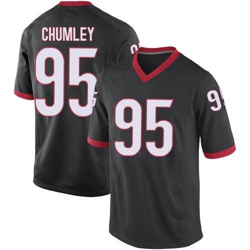 Youth Nike Noah Chumley Georgia Bulldogs Replica Black Football College Jersey