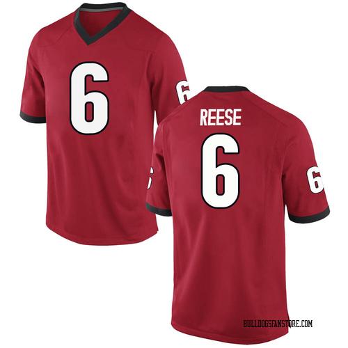 Youth Nike Otis Reese Georgia Bulldogs Game Red Football College Jersey