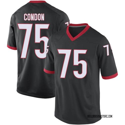 Youth Nike Owen Condon Georgia Bulldogs Game Black Football College Jersey