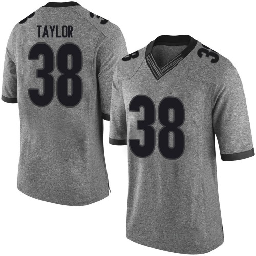 Youth Nike Patrick Taylor Georgia Bulldogs Limited Gray Football College Jersey