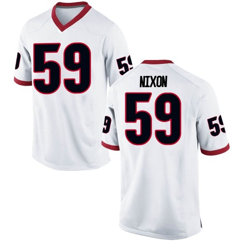 Youth Nike Steven Nixon Georgia Bulldogs Replica White Football College Jersey