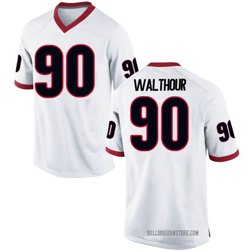Youth Nike Tramel Walthour Georgia Bulldogs Game White Football College Jersey