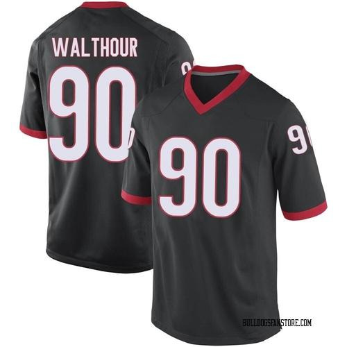 Youth Nike Tramel Walthour Georgia Bulldogs Replica Black Football College Jersey