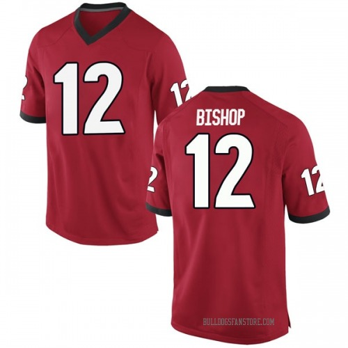 Youth Nike Tray Bishop Georgia Bulldogs Game Red Football College Jersey