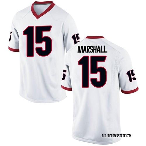 Youth Nike Trezmen Marshall Georgia Bulldogs Replica White Football College Jersey