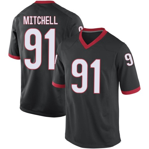 Youth Nike Tymon Mitchell Georgia Bulldogs Replica Black Football College Jersey
