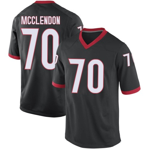 Youth Nike Warren McClendon Georgia Bulldogs Game Black Football College Jersey