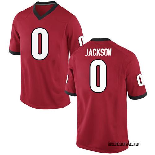 Youth Nike William Jackson II Georgia Bulldogs Replica Red Football College Jersey