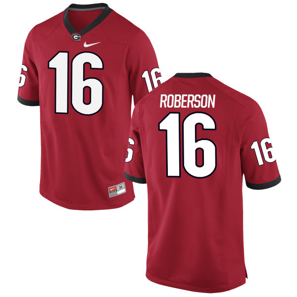 Men's Nike Caleeb Roberson Georgia Bulldogs Authentic Red Football Jersey