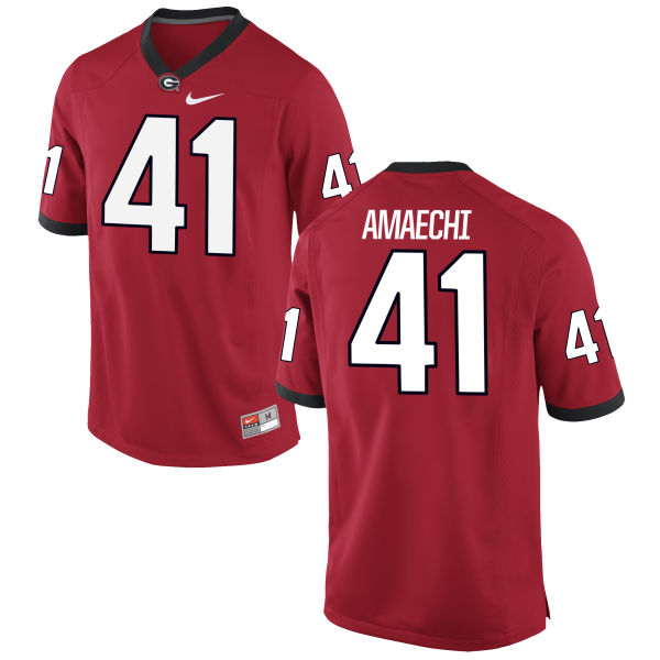 Men's Nike Chuks Amaechi Georgia Bulldogs Game Red Football Jersey