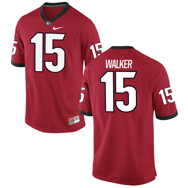 Men's Nike D'Andre Walker Georgia Bulldogs Limited Red Football Jersey