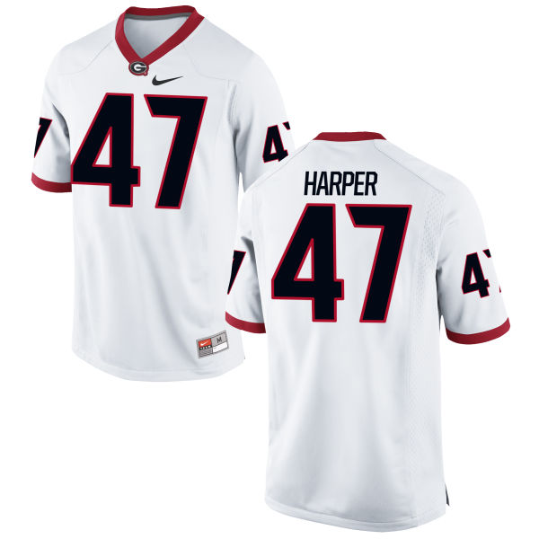 Youth Nike Daniel Harper Georgia Bulldogs Limited White Football Jersey