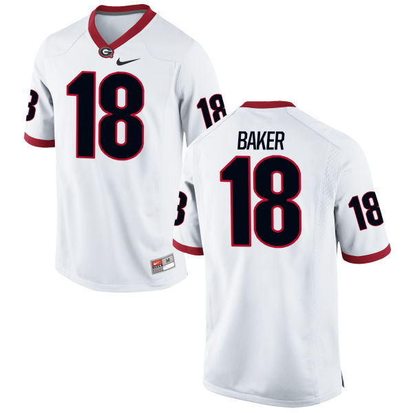 Youth Nike Deandre Baker Georgia Bulldogs Authentic White Football Jersey
