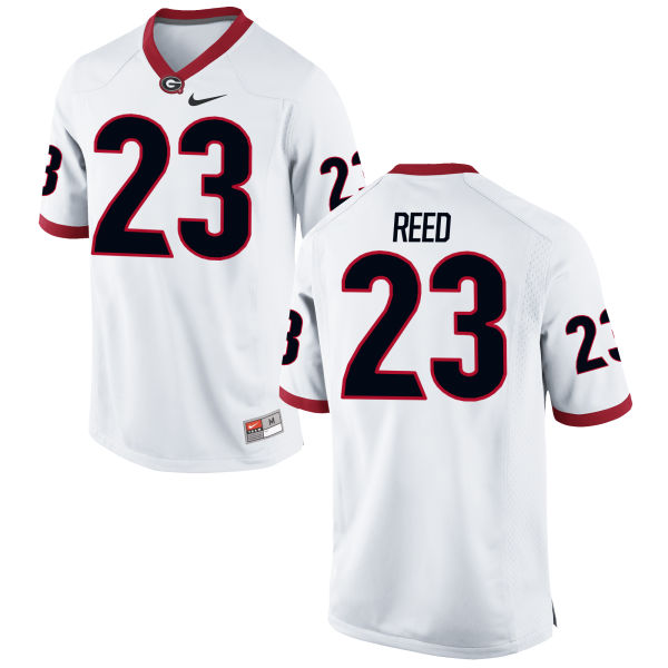 Men's Nike J.R. Reed Georgia Bulldogs Game White Football Jersey