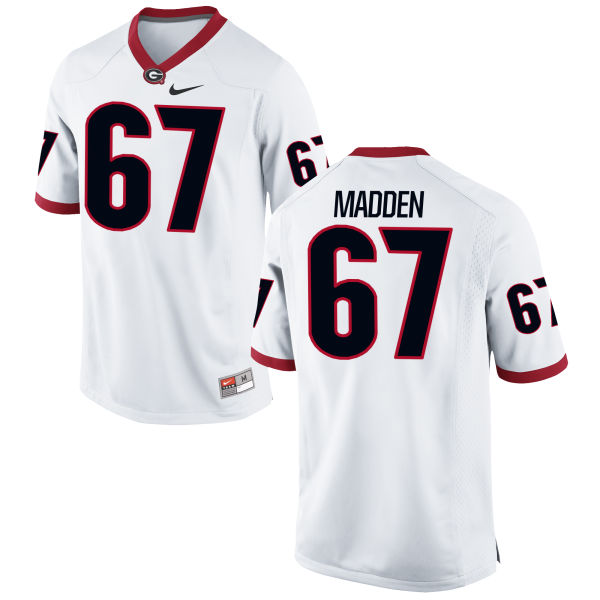 Men's Nike Sam Madden Georgia Bulldogs Game White Football Jersey