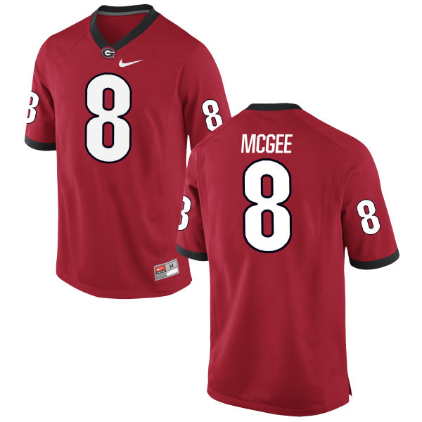 Men's Nike Shaun McGee Georgia Bulldogs Game Red Football Jersey
